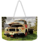 Vintage Flatbed Milk Truck Portrait Weekender Tote Bag