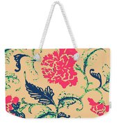 Vintage Flower Design Weekender Tote Bag