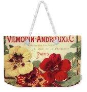 Vintage Flower Seed Cover Paris Rare Weekender Tote Bag