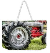 Vintage Ford Tractor Watercolor Weekender Tote Bag