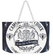 Vintage French Cheese Label 3 Weekender Tote Bag