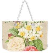Vintage French Flower Shop 1 Weekender Tote Bag by Debbie DeWitt