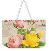 Vintage French Flower Shop 3 Weekender Tote Bag by Debbie DeWitt