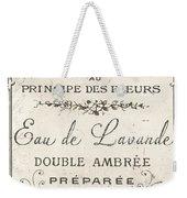 Vintage French Perfume Sign Weekender Tote Bag