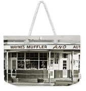 Vintage Gas Station Weekender Tote Bag