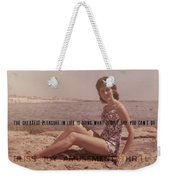 Vintage Glamour Quote Weekender Tote Bag