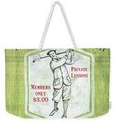 Vintage Golf Green 1 Weekender Tote Bag