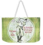 Vintage Golf Green 2 Weekender Tote Bag