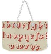 Vintage Gothic Font Red Weekender Tote Bag
