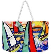 Vintage Green Bay Sailing Weekender Tote Bag