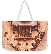 Vintage Grinder With Sacks Of Coffee Beans Weekender Tote Bag