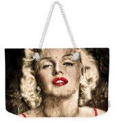 Vintage Grunge Goddess Marilyn Monroe  Weekender Tote Bag