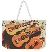Vintage Guitars On Music Sheet Weekender Tote Bag