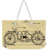 Vintage Harley-davidson Motorcycle 1919 Patent Artwork Weekender Tote Bag