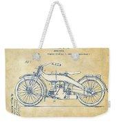 Vintage Harley-davidson Motorcycle 1924 Patent Artwork Weekender Tote Bag by Nikki Smith