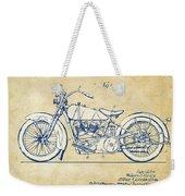 Vintage Harley-davidson Motorcycle 1928 Patent Artwork Weekender Tote Bag