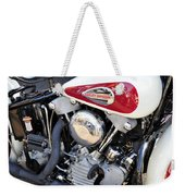 Vintage Harley V Twin Weekender Tote Bag by David Lee Thompson
