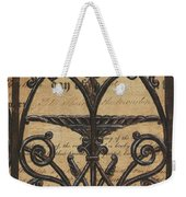 Vintage Iron Scroll Gate 1 Weekender Tote Bag