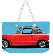 Vintage Italian Automobile Red Tee Weekender Tote Bag