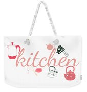 Vintage Kitchen Cookware Weekender Tote Bag