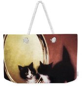Vintage Kitty Cat Weekender Tote Bag