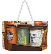 Vintage Lard Can Weekender Tote Bag