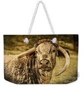 Vintage Longhorn Cattle Weekender Tote Bag
