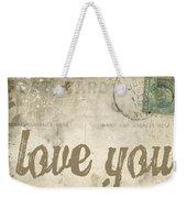 Vintage Love Letters Weekender Tote Bag