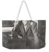 Vintage Man In Hat Smoking Cigarette In Jazz Club Weekender Tote Bag