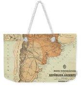 Vintage Map Of Argentina - 1882 Weekender Tote Bag