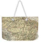 Vintage Map Of Brazil - 1889 Weekender Tote Bag