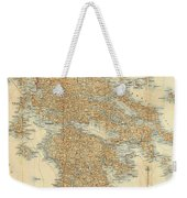 Vintage Map Of Greece - 1894 Weekender Tote Bag
