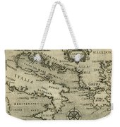 Vintage Map Of Italy And Greece - 1587 Weekender Tote Bag