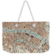 Vintage Map Of Lyon France - 1888 Weekender Tote Bag