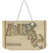 Antique Map Of Massachusetts Weekender Tote Bag