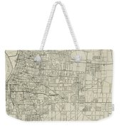 Vintage Map Of Memphis Tennessee - 1911 Weekender Tote Bag