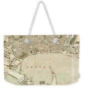 Vintage Map Of Messina Italy - 1900 Weekender Tote Bag