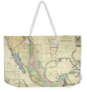 Vintage Map Of Mexico - 1847 Weekender Tote Bag