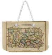 Antique Map Of Pennsylvania Weekender Tote Bag
