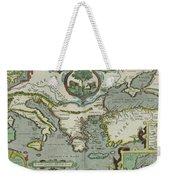 Vintage Map Of The Mediterranean Sea - 1608 Weekender Tote Bag