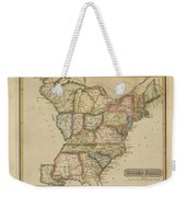 Antique Map Of United States Weekender Tote Bag