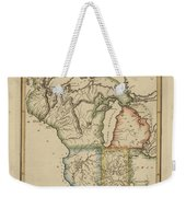 Antique Map Of Upper Territories Of The United States Weekender Tote Bag