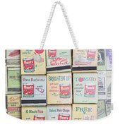 Vintage Matchbooks Weekender Tote Bag