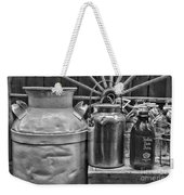 Vintage Milk In Black And White Weekender Tote Bag