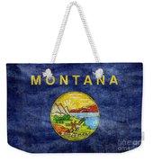 Vintage Montana Flag Weekender Tote Bag