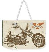 Vintage Motorcycling Mancave-c Weekender Tote Bag