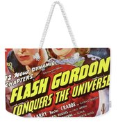 Vintage Movie Posters, Flash Godon Conquers The Universe Weekender Tote Bag