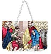 Vintage Nativity Scene Weekender Tote Bag