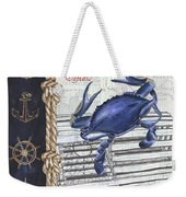 Vintage Nautical Crab Weekender Tote Bag