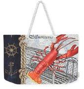 Vintage Nautical Lobster Weekender Tote Bag